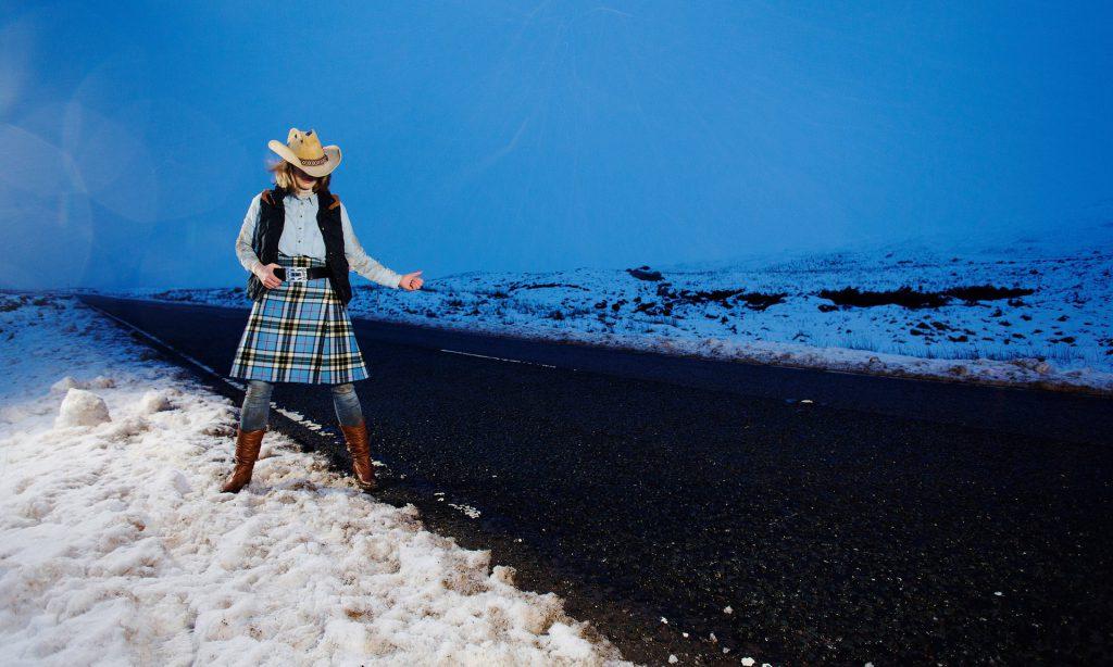 Hitchhiking Cowgirl